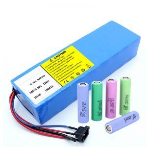 リチウムバッテリー18650 60V 12AHリチウムイオン充電式スクーターバッテリーパック