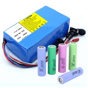 リチウム電池18650 48V 12AH 48V 500W BMS付き電動自転車バッテリー