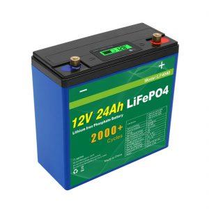 ソーラーディープサイクル24v48v 24ahLifepo4バッテリーパックUPS12v24ahバッテリー