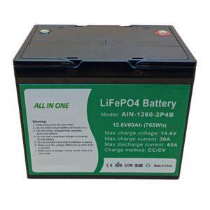 オールインワン円筒形2000サイクルリチウム電池12v60Ahバッテリーパック(エネルギー貯蔵用)