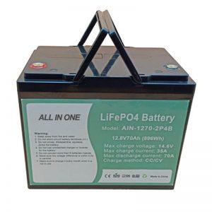 電気車両用の充電式896Whlifepo4バッテリー12V70Ah