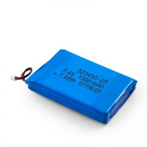 LiPO充電式バッテリー523450 3.7V 1000mAH / 7.4V 1000mAH / 3.7V 2000mAH