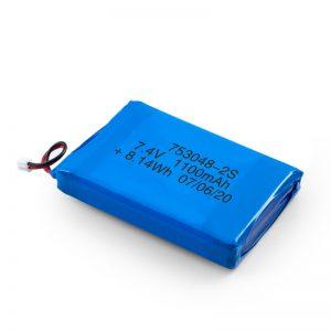 LiPO充電式バッテリー753048 3.7V 1100mAh / 7.4V 1100mAH / 3.7V 2200mAH